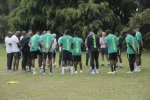 Super Eagles Hold First Training Session Ahead Benin Clash; Aribo, Troost-Ekong Hit Camp Tuesday