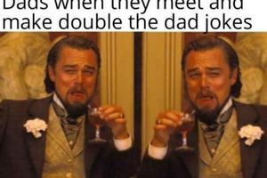 double the dad jokes