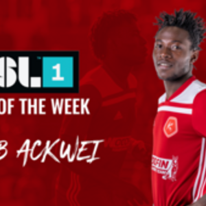 Ghanaian defender Wahab Ackwei named in USL team of the week for the fourth time