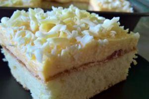 Sočan i kremast vanila kolač sa džemom