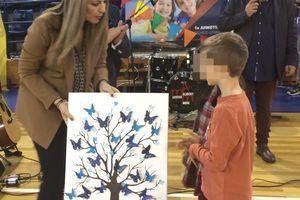 Απονομή του βραβείου Γκίνες στο 1ο και 2ο Δημοτικό Σχολείο Δράμας από την Υφυπουργό Παιδείας Σ. Ζαχαράκη