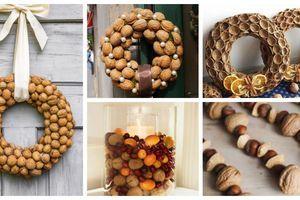 Krásné dekorace vytvořené z ořechů a ořechových skořápek – Inspirujte se