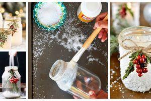 Potřebujete sůl, lepidlo a zavařovací sklenici – Úžasné zimní tvoření, které si i děti zamilují