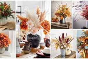 Aranžování květin na podzim: Květinové výzdoby stolu s podzimními prvky!