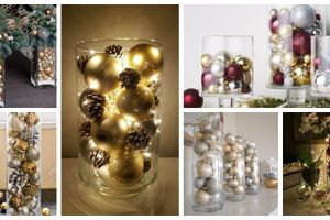 Neutrácejte za drahé dekorace: Ozdoby stačí naskládat do skleněné nádoby