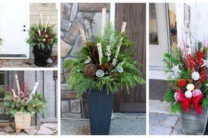 Stačí Vám vysoký květináč a přírodní materiál – Dekorace před vchodové dveře