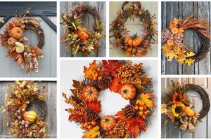 Přidejte do vašeho podzimního věnce obyčejnou dýní – Výsledek stojí za to!