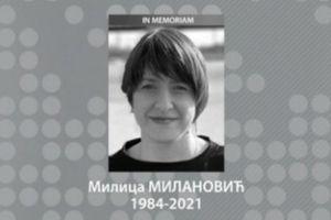 PREMINULA NOVINARKA MILICA MILANOVIĆ! Izgubila životnu bitku u 37. godini!