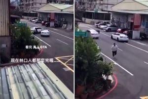 Teslom razlupao Toyotu i sprečio otmicu prijatelja?! Pogledajte dramatičan snimak iz Tajvana (VIDEO)