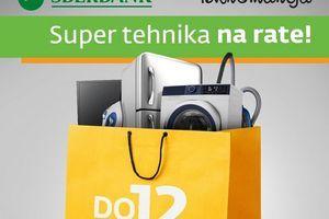 Uz Sberbank i Tehnomaniju - super tehnika na rate