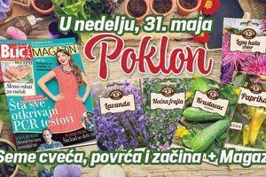 """U """"Blicu"""" u nedelju na poklon seme cveća, povrća, začina, plus novi broj """"Magazina"""""""