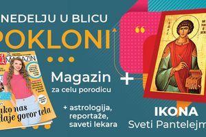 """Ikona Svetog Pantelejmona i novi broj Magazina u nedelju u """"Blicu"""""""