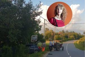 AUTO JOJ RAZVALIO OGRADU I ULETEO U DVORIŠTE Maja uslikala saobraćajku, vozilo morali da izvlače traktorom