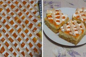 Ten nejlepší mřížkovaný koláč s marmeládou a zakysanou smetanou