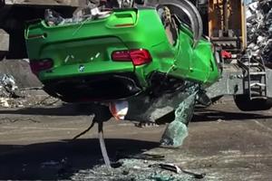 """Karavanski"" BMW M3: policija ga je zajela in posnela uničenje #video"