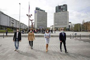 Predsedniki LMŠ, SD, Levice in SAB parafirali besedilo sporazuma o povolilnem sodelovanju
