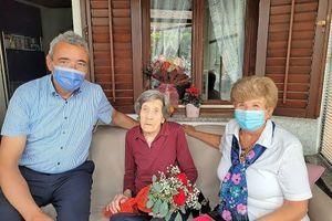 Mirenka Marija Tomšič praznovala 102. rojstni dan