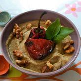 Baba ganoush μια μελιτζανοσαλάτα με ταχίνι