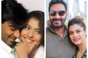 Loved-up pictures of Ajay Devgn and Kajol