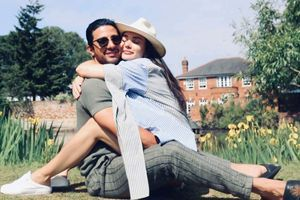 Pics of Amy 'frolicking' with beau George