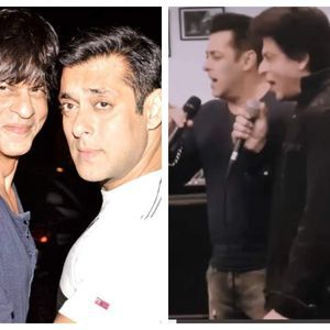 Throwback: SRK & Salman sing together- video