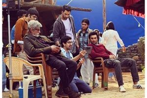 TBT: Ranbir-Amitabh on sets of 'Brahmastra'