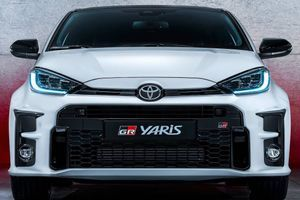 The new Toyota Yaris GR with four wheels and 261 hp