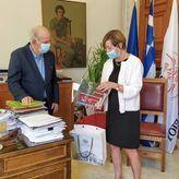 Συνάντηση Βασίλη Λαμπρινού με την Πρέσβειρα του Βελγίου