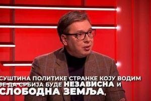 VUČIĆ: Suština politike SNS da Srbija bude nezavisna