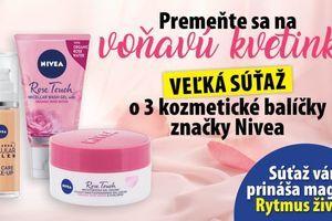 Súťaž o balíček kozmetických produktov značky Nivea